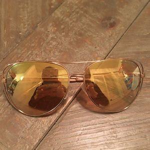 Michael Kors Gold Sunglasses